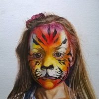 Behind the Tiger Paint 3 2015 35x25cm watercolour