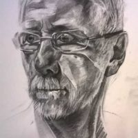 Martin (Charcoal on paper, 30 x 25cm)