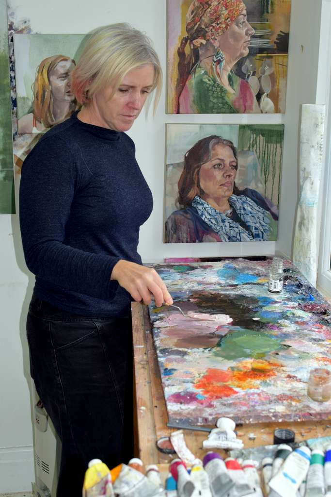Catherine MacDiarmid in her studio