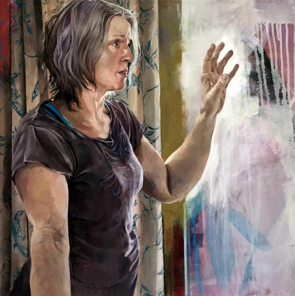 Self Portrait Reaching - Catherine MacDiarmid