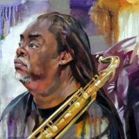 Courtney Pine (Sky Portrait Artist of the Year 2019 semi-final) -CatherineMacDiarmid